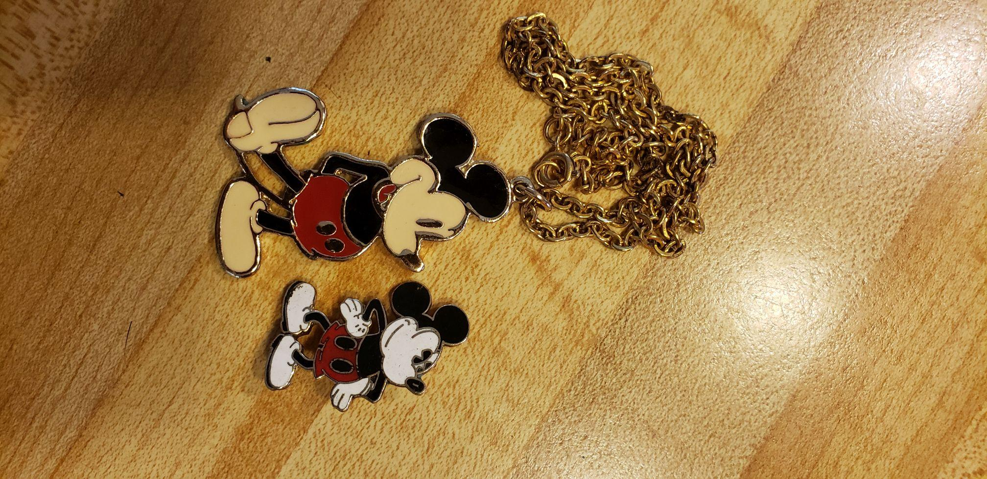Mickey Mouse Necklace & Pin